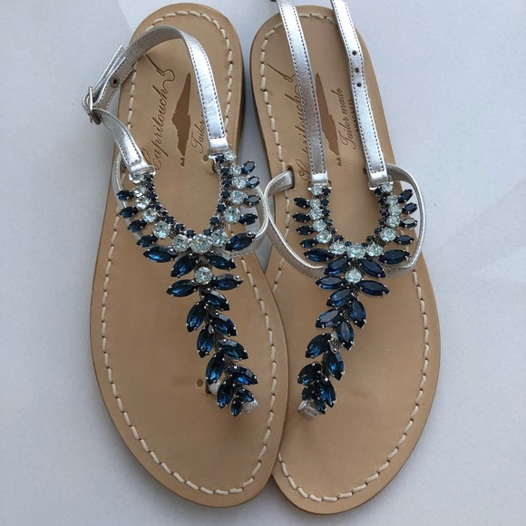 58cbd1f240ed Swarovski Crystal Italian Sandals from Capri